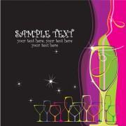 Link toElements of wine design vector graphic set 03