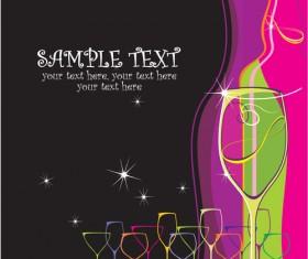 Elements of Wine design vector graphic set 03