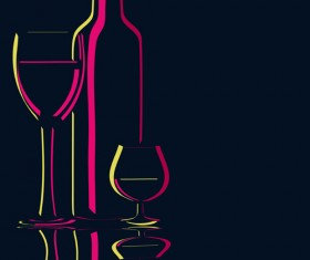 Elements of Wine design vector graphic set 04