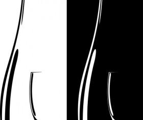 Elements of Wine design vector graphic set 05