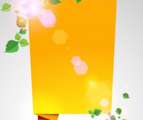 Yellow Speech Bubbles for you text vector 03