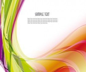 Glowing Abstract backgrounds vector graphic set 05