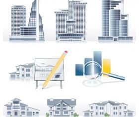 Creative Architecture design elements vector set 01