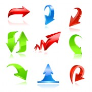 Link toVarious colorful arrows vector graphics 02