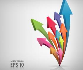 Set of Different arrow mix vector 02