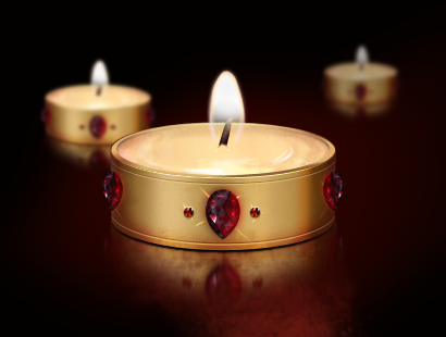Burning Candle Layered PSD