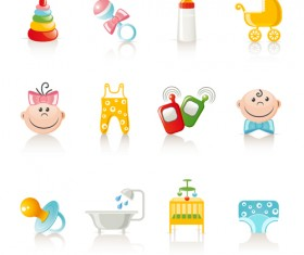 Vivid baby icon design vector