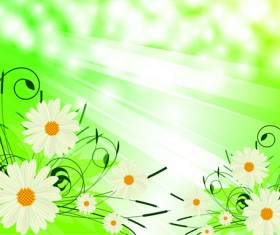 Bright Background with flowers design vector 01