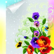 Link toBright background with flowers design vector 03