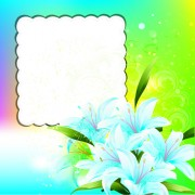 Link toBright background with flowers design vector 04