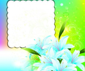 Bright Background with flowers design vector 04