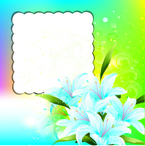 Bright Background with flowers design vector 04 free download