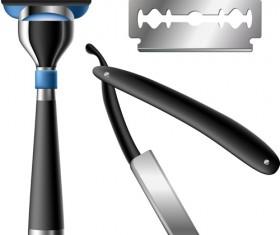 Different blades design elements vector set 03