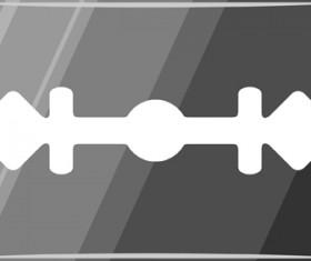 Different blades design elements vector set 05