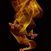 Link toBlack background with bright butterfly vector graphic 01
