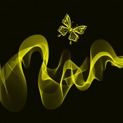 Link toBlack background with bright butterfly vector graphic 02