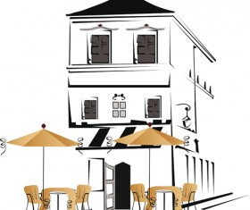 Elements of Different cafe deisgn vector 02