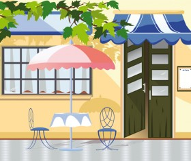 Elements of Different cafe deisgn vector 03