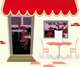 Elements of Different cafe deisgn vector 04