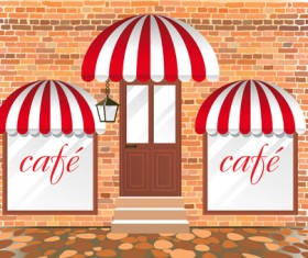 Elements of Different cafe deisgn vector 05