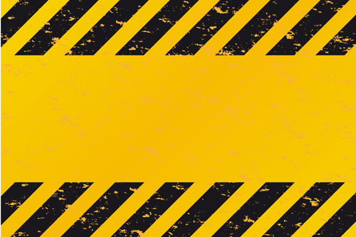 Construction Warning Signs Background Design Vector Vector - Construction business card templates download free