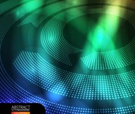 Shiny circle background design vector 04