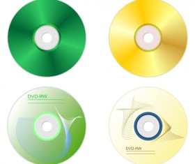 DVD Disc design template vector graphic 01