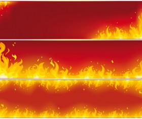 Different Fire vector illustration set 02