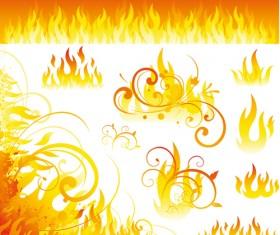 Different Fire vector illustration set 03