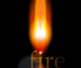 Different Fire vector illustration set 04