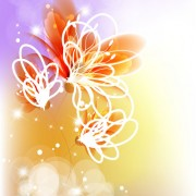 Link toPoints of light background with flowers vector set 04