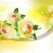 Link toPoints of light background with flowers vector set 05