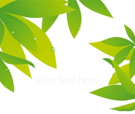 Elements of Fresh Green vector backgrounds 01