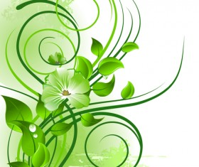 Elements of Fresh Green vector backgrounds 02
