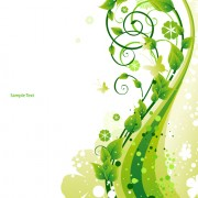 Link toElements of fresh green vector backgrounds 04