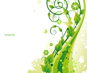 Elements of Fresh Green vector backgrounds 04