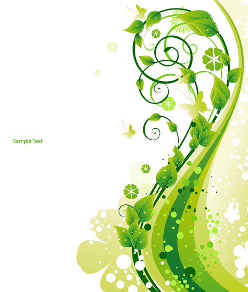 Elements of Fresh Green vector backgrounds 04 - Vector Background free ...