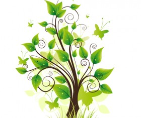 Elements of Fresh Green vector backgrounds 05