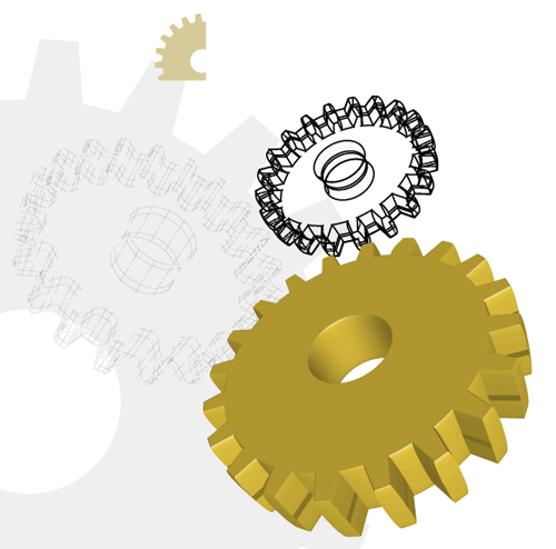 Different Gears mix vector set 01