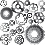 Link toDifferent gears mix vector set 04