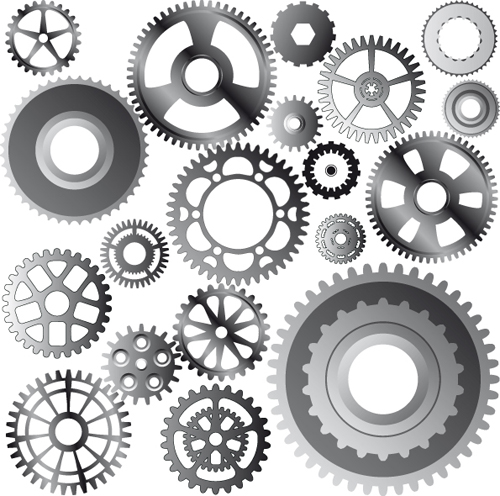 Machine with gears vector - Vector Other free download