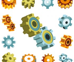 Different Gears mix vector set 05