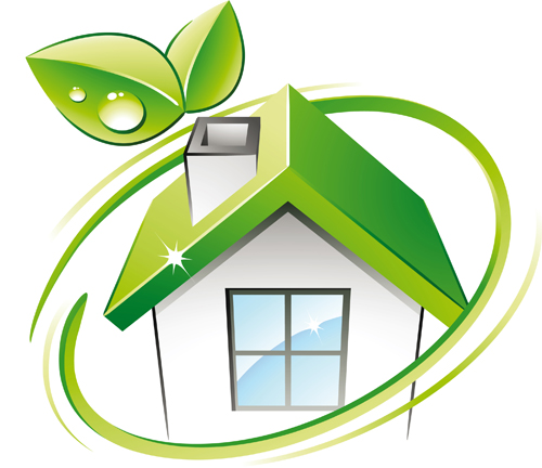 Set Of Green Eco House Vector 01