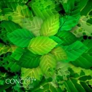 Link toGreen leaves concept background elements vector 01