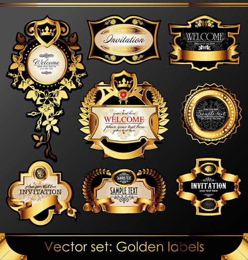 how to icing a wedding cake with fondant set of luxury golden label design vector 02 free 15760