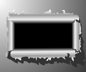 Set of Metal background with hole design vector 04