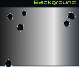 Set of Metal background with hole design vector 05