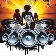 Link toBright music theme elements background vector 02