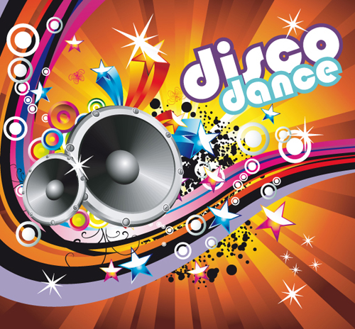 Bright music theme elements background vector 03 – Over
