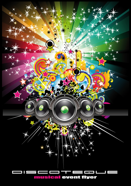 bright music theme elements background vector 04 free download